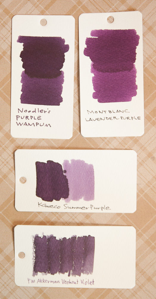 Diamine Damson ink swab comparison