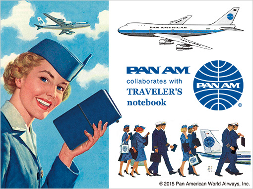 MTN Pan Am Edition Blue leather notebook