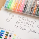 Review: Staedtler Triplus Fineliner 20-color Felt Tip Marker Set (& Giveaway)