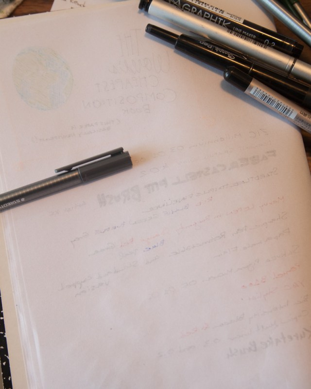Cheap paper felt tip pen test from the reverse