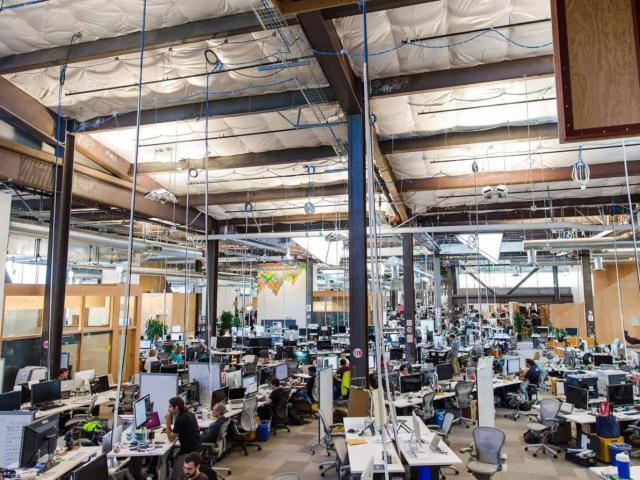 No obstacles: Facebook's headquarters in Menlo Park, California Washington Post