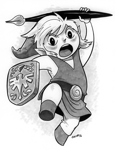Awesome new Link artwork by Chris Grine, illustrator of the web comic Wicked Crispy.