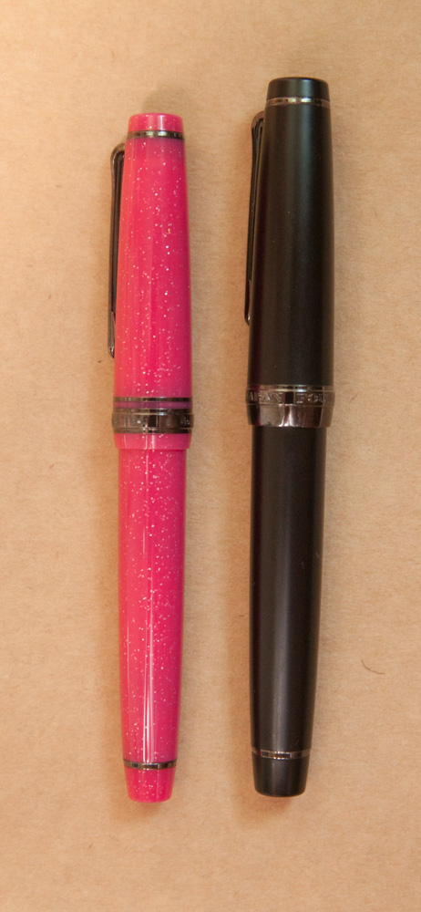 Sailor Pro Gear Imperial Black and Sailor Pro Gear Slim Pink Love