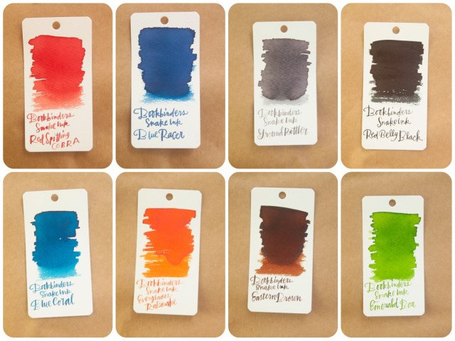Bookbinders Snake Ink Swatches