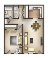 1 Bedroom Garden Apartment in Manchester NH at Wellington ...