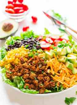 Exciting Turkey Taco Salad A Skinny Taco Salad Recipe Easy To Make Andtastes Skinny Taco Salad Cabbage Ground Turkey Tacos Keto Avocado Ground Turkey Tacos Ground Turkey