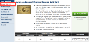 Targeted 50,000 American Express Premier Gold Rewards Bonus Offer