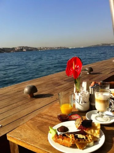Breakfast at our hotel in Istanbul