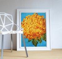 Chrysanthemum decor Chrysanthemum art Chrysanthemum gift ...
