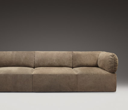 Leather sofa,bottega veneta
