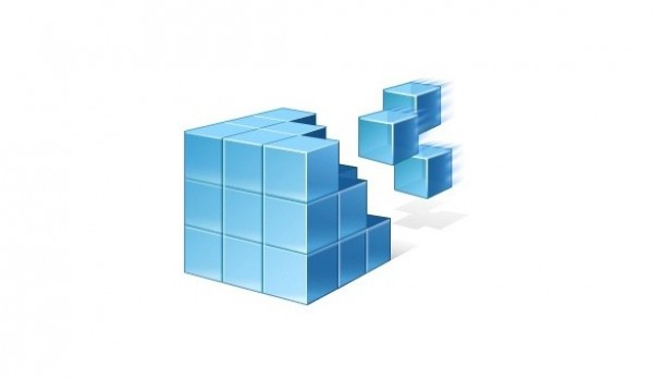 Blue 3D Cubes Vista Vector Icon - WeLoveSoLo