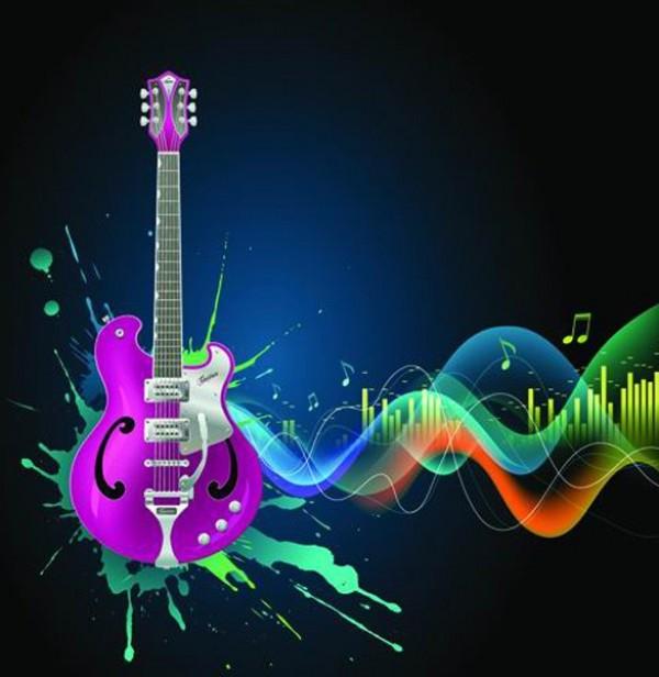 Wallpaper Graffiti Keren 3d Cool Music Splash Guitar Vector Background Welovesolo