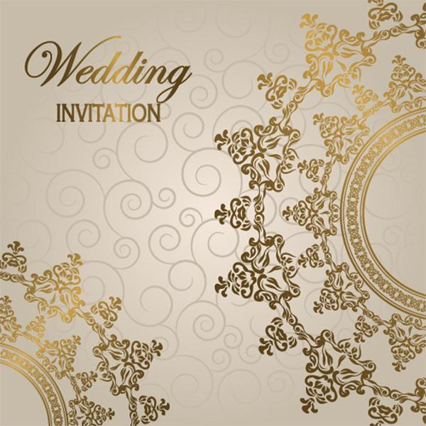 Free PDF Down Elegant Glossy Wedding Invitation Background