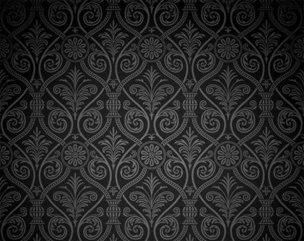 Vintage Dark Damask Pattern Vector Background - WeLoveSoLo
