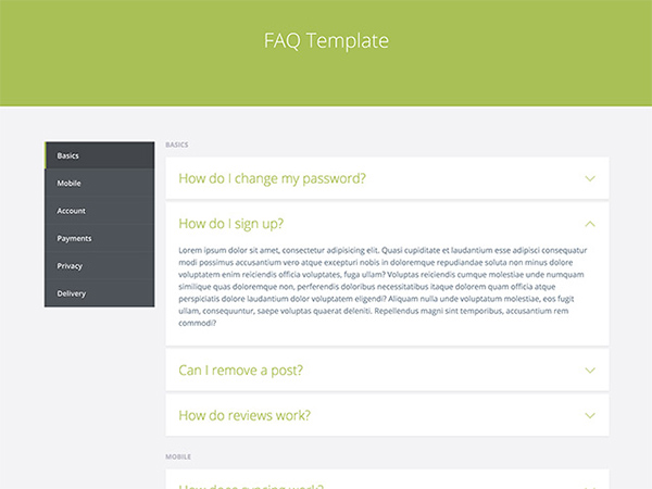 FAQ Template Page CSS - WeLoveSoLo