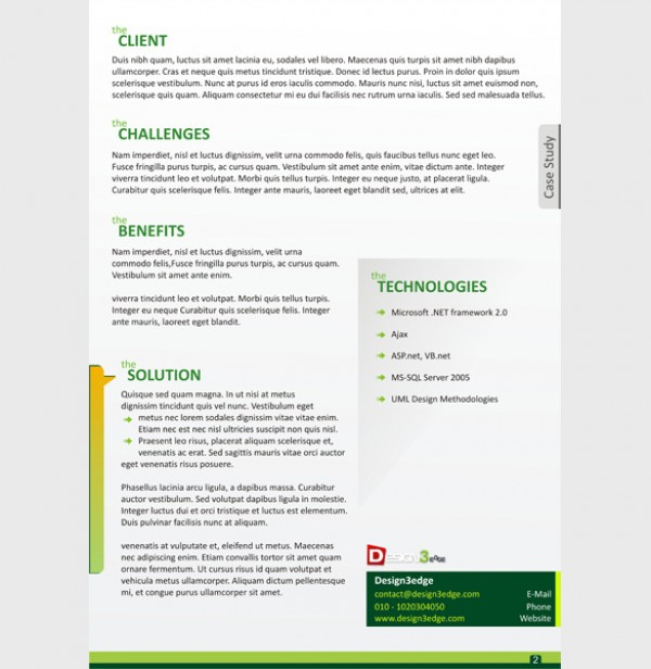 Attractive Case Study Template  Cover - WeLoveSoLo - study template