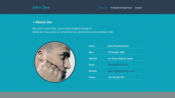 Professional Resume Website Template PSD - WeLoveSoLo