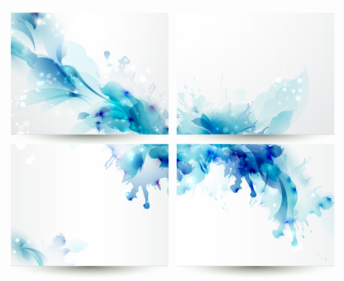 Blue flower backgrounds vector 01 - WeLoveSoLo - blue flower backgrounds