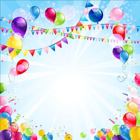 Bright birthday background design vector 02 - WeLoveSoLo - birthday backround