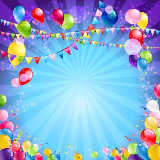 Bright birthday background design vector 07 - WeLoveSoLo - birthday backround