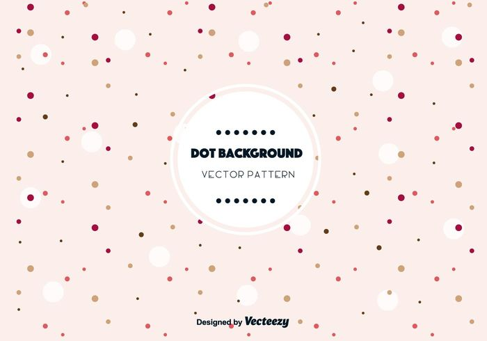 Cute Dot Background Vector - WeLoveSoLo