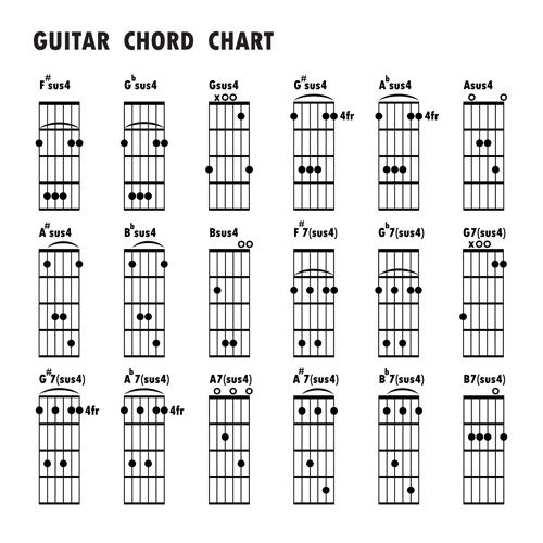 Guitar chords chart design vector 01 - WeLoveSoLo