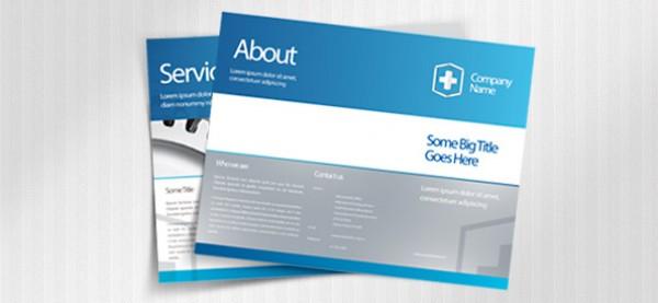 Blue Business Leaflet Template Set PSD - WeLoveSoLo - leaflet template