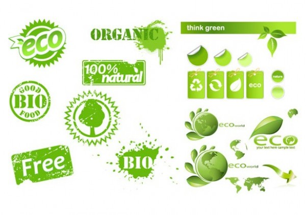 Organic Eco Theme Vector Elements - WeLoveSoLo