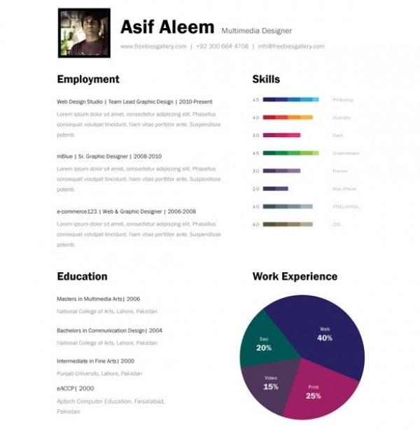 infographic resume website