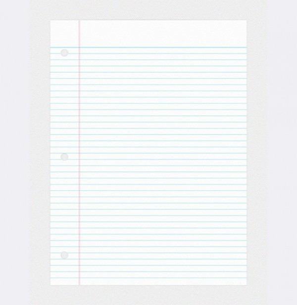 College Ruled Binder Notebook Paper PSD - WeLoveSoLo - notebook paper download