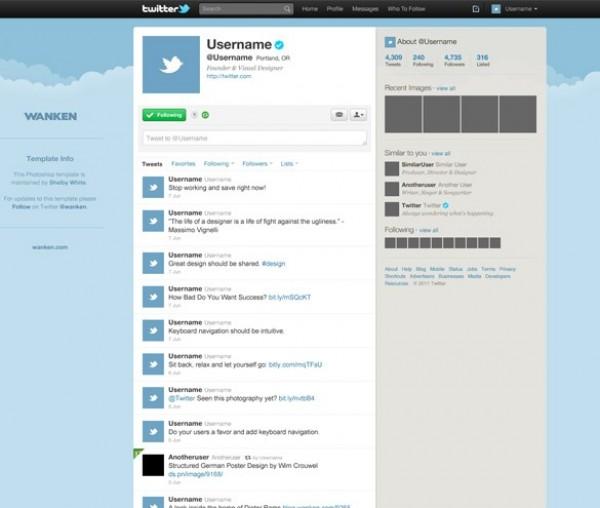 Twitter Webpage Template Design PSD - WeLoveSoLo