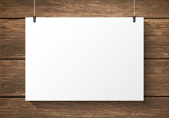 Free Paper Plate On Wooden Background Vector Welovesolo