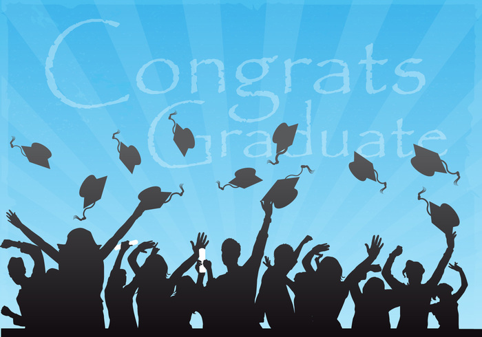 Congrats Graduate Vector Background - WeLoveSoLo