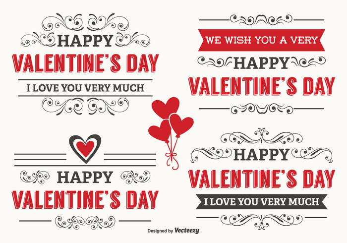 Typographic Valentine\u0027s Day Labels 131705 - WeLoveSoLo