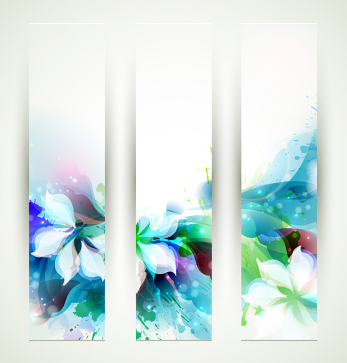Blue flower backgrounds vector 02 - WeLoveSoLo - blue flower backgrounds