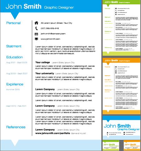 Creative resume template design vector material 02 - WeLoveSoLo - interesting resume template