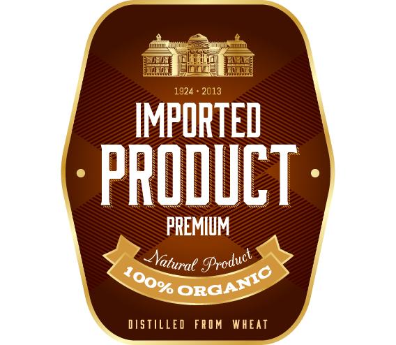 Wine label vintage design vector material set 33 - WeLoveSoLo