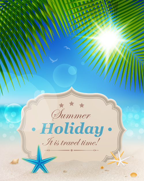 Summer holiday design Elements vector Set 04 - WeLoveSoLo