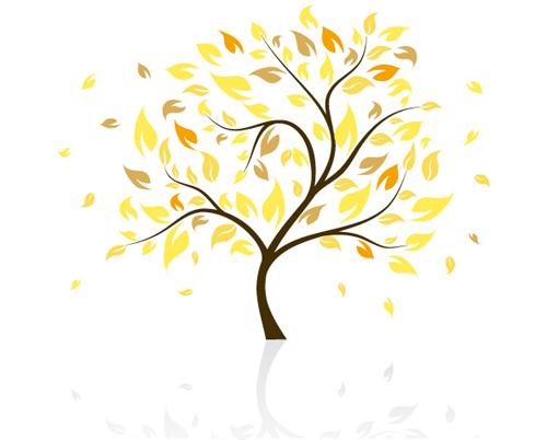 Autumn of Tree design vector ser 03 - WeLoveSoLo