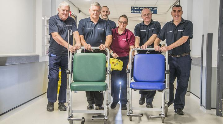 Spotlight shines on hospital porters whose dedication helps save