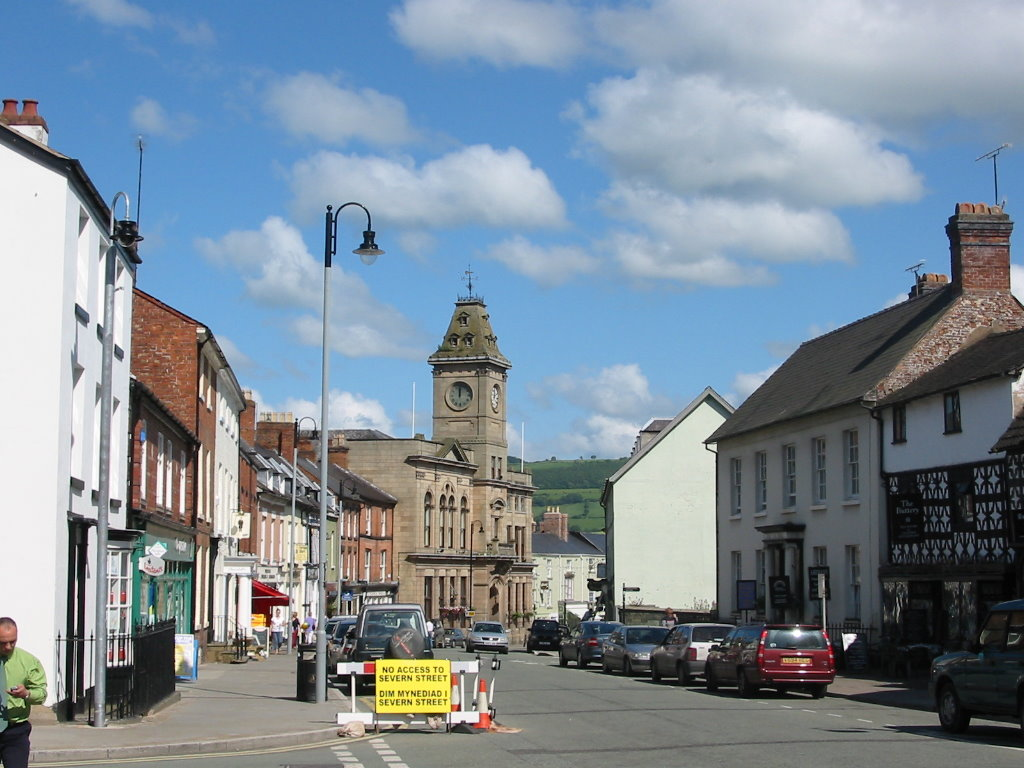 photos of welshpool in powys mid wales