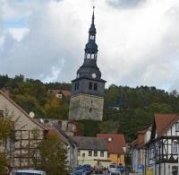 Schiefer Turm von Bad Frankenhausen gesichert - WELT