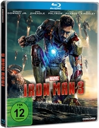 Blu-ray Cover - Iron Man 3, Rechte bei Concorde