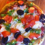 Veggie Pizza with Basil Olive Oil from Lucero