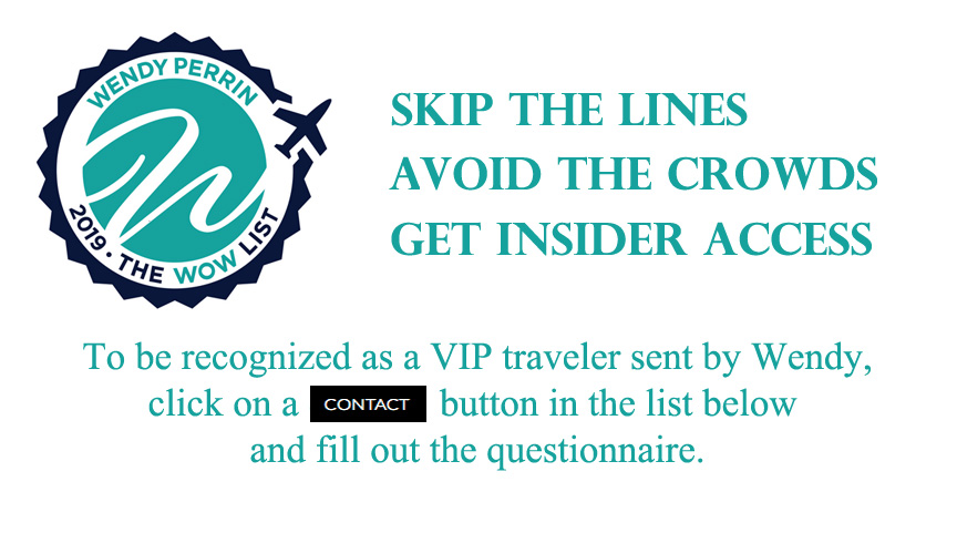 The 2019 WOW List Wendy\u0027s Trusted Travel Experts - Wendy Perrin