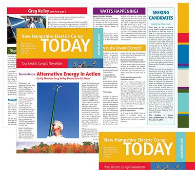 newsletter print sample