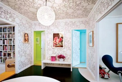 How to Wallpaper a Ceiling   We Say How