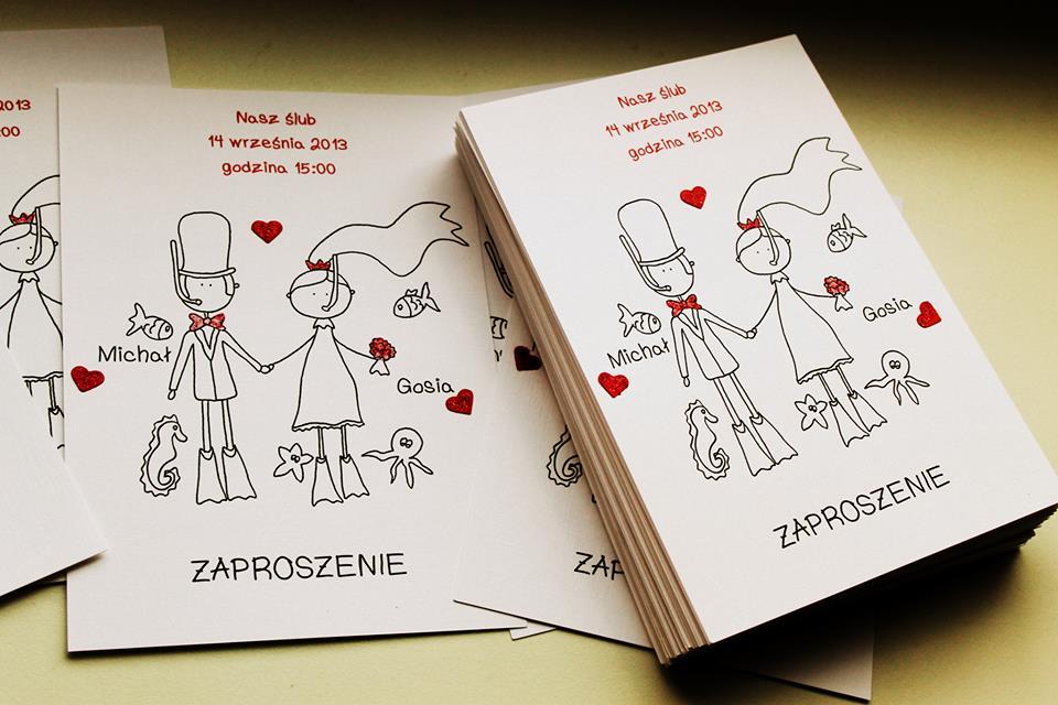 Śmieszne zaproszenia ślubne - Ślub i wesele w jednej pigułce