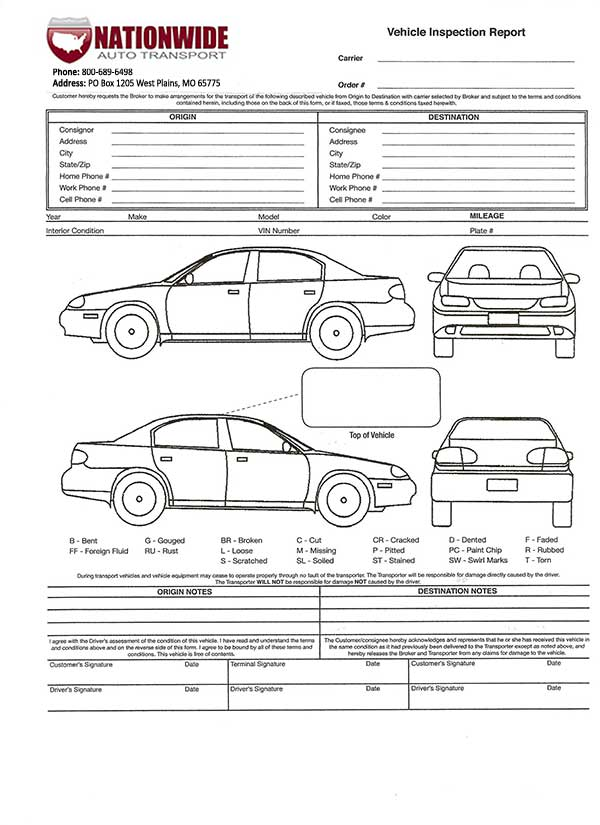 How a Bill of Lading Works Car Shipping Blog Nationwide Auto - truck bill of lading form