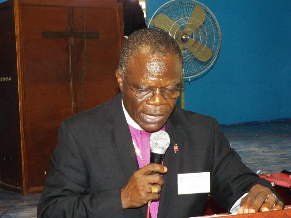 Bishop Innis delivering his Episcopal Address at the 181st Annual Session